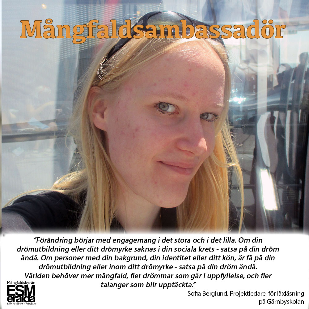 Mångfaldsambassadör, Sofia Berglund